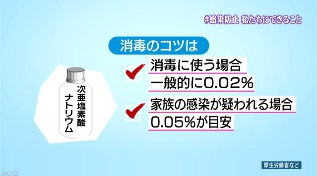 新型コロナ-私たちにできること-消毒のコツ(NHK)