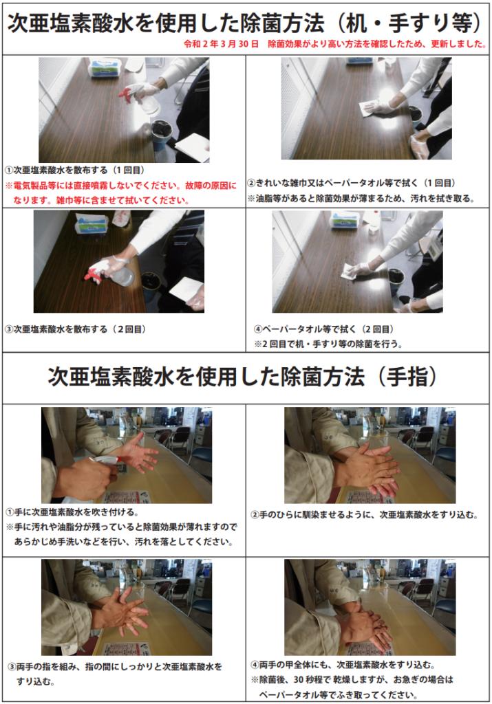 大和市-次亜塩素酸水-手指消毒方法